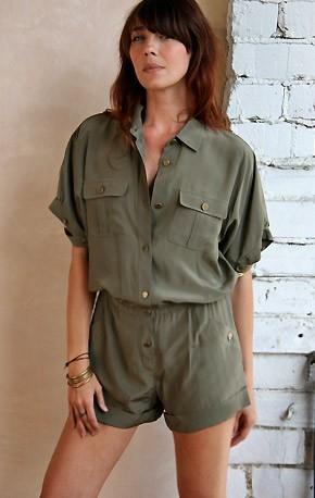Rihanna + Haute Hippie Short Jumpsuit « Miss Fenty Style