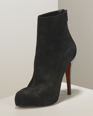louboutin ankle boots suede