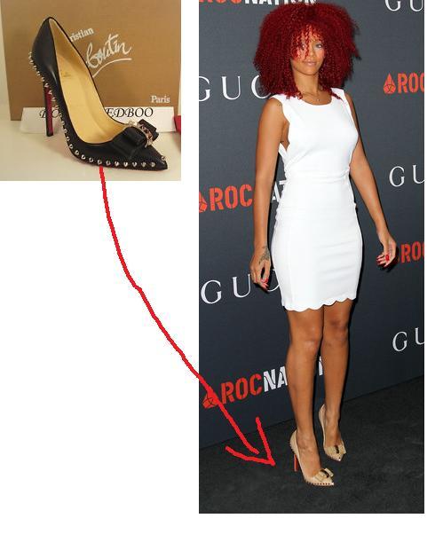 buy online e652a 248eb Rihanna + Christian Louboutin LUCIFER spike stud bow « Miss ...